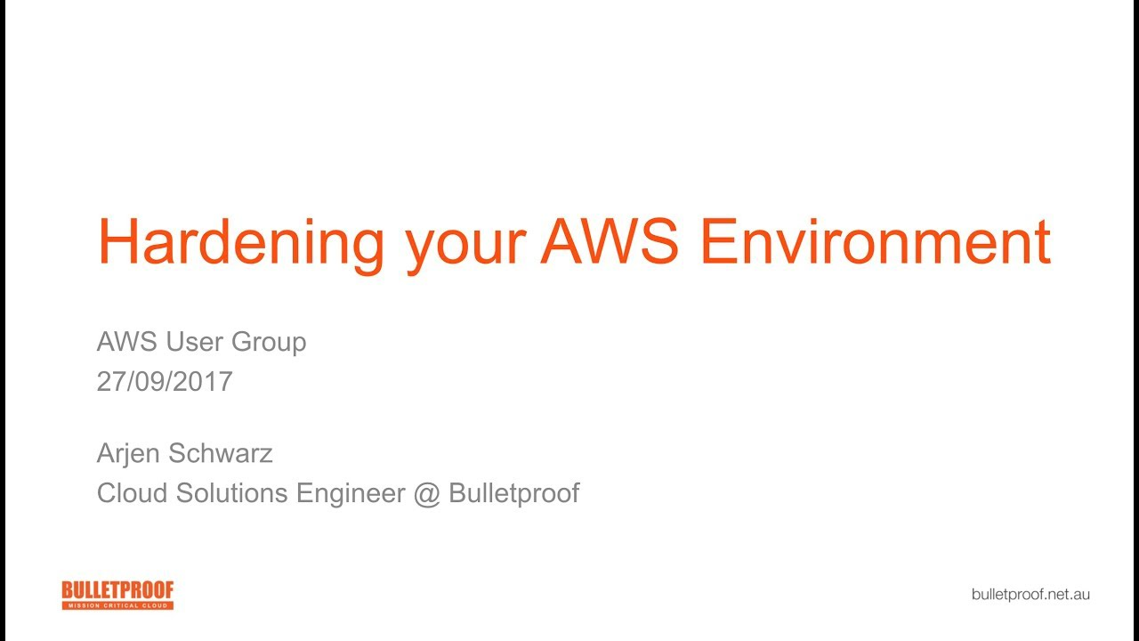 Hardening Your AWS Environment | ig nore me