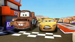 Todd Marcus Vs Tow Mater & Neon Lightning McQueen Disney PIXAR CARS for Kids