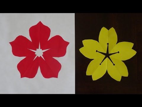 How to make 5 petal hand cut paper flowers youtube how to make 5 petal hand cut paper flowers mightylinksfo
