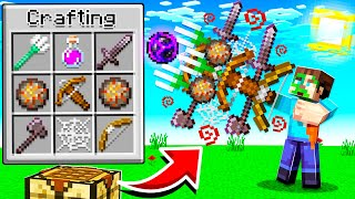 CRAFTING THE ULTIMATE MINEĊRAFT WEAPON! (9999x stronger)