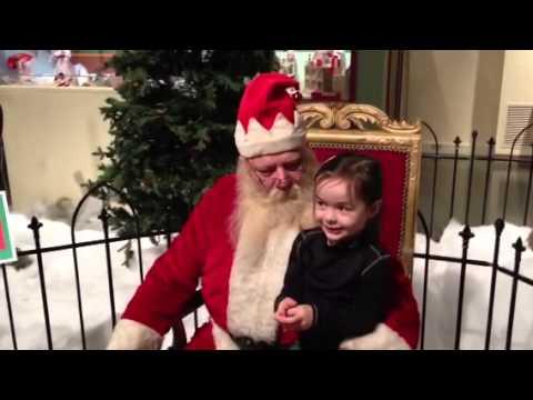 Sarah tells Santa what she wants