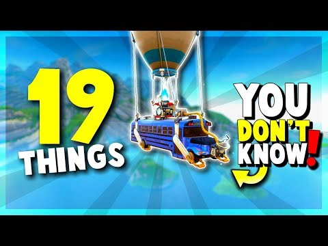 FORTNITE Battle Royale - 19 THINGS You STILL Don't Know | Tips and Tricks