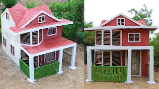 Evolution Primitive Time: Building Most Beautiful Villa House Using Mud, Bamboo & Wood