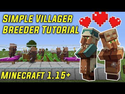 SIMPLE VILLAGER BREEDER TUTORIAL | EASY Automatic (Minecraft 1.15+)