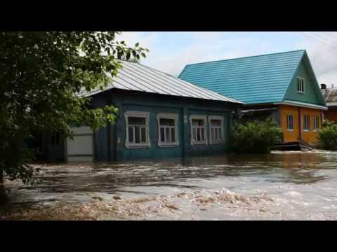 Неожиданый потоп в городе Меленки.