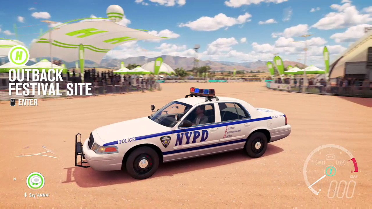 My nypd crown vic in forza horizon 3