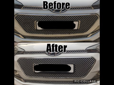 How to clean car chrome grill || FAST AND SIMPLE ( I20,BALENO,SWIFT,HONDA CITY,FIGO,INNOVA,WAGNOR)
