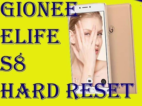 Gionee Elife S8 Hard Reset(Password Unlock)
