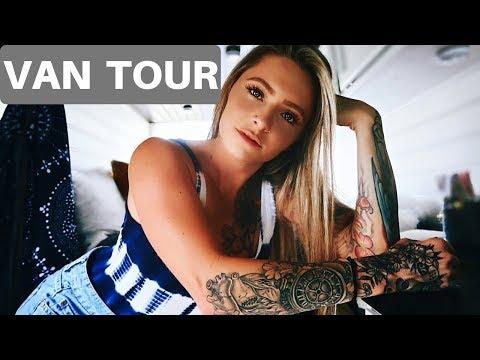 VAN LIFE   OFFICIAL VAN TOUR OF A SOLO FEMALE FULL TIME TRAVELER W/ PITBULLS!