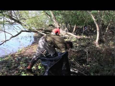 Delaware Riverkeeper Network video Petty's Island trash clean-up
