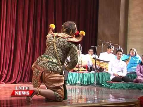 Lao NEWS on LNTV: Khone and the episode performance highlights Thai culture in Vientiane.18/5/2016