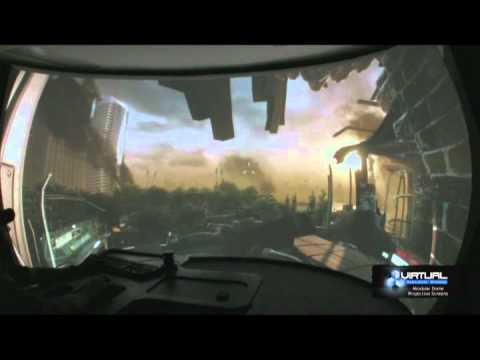 Crysis 2 On Vss Modular Dome Screen From Virtual