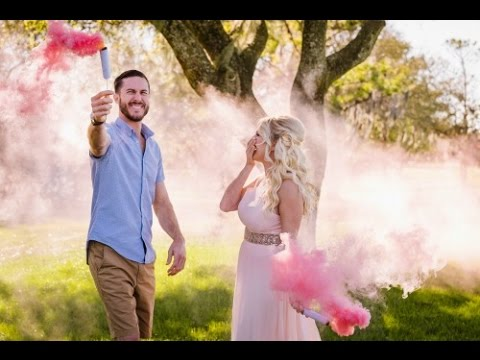 Smoke Bomb Gender Reveal Party- Our First Baby!