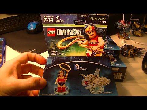 LEGO DIMENSIONS WONDER WOMAN AND INVISIBLE JET UNBOXING AND BUILD