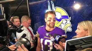 10/13/19: Adam Thielen on Vikings 300-plus yard day passing the football