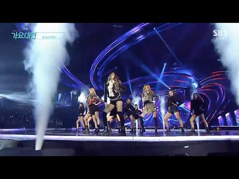 BLACKPINK - '휘파람 (WHISTLE)' + '불장난 (PLAYING WITH FIRE)' in 2016 SBS Gayodaejun