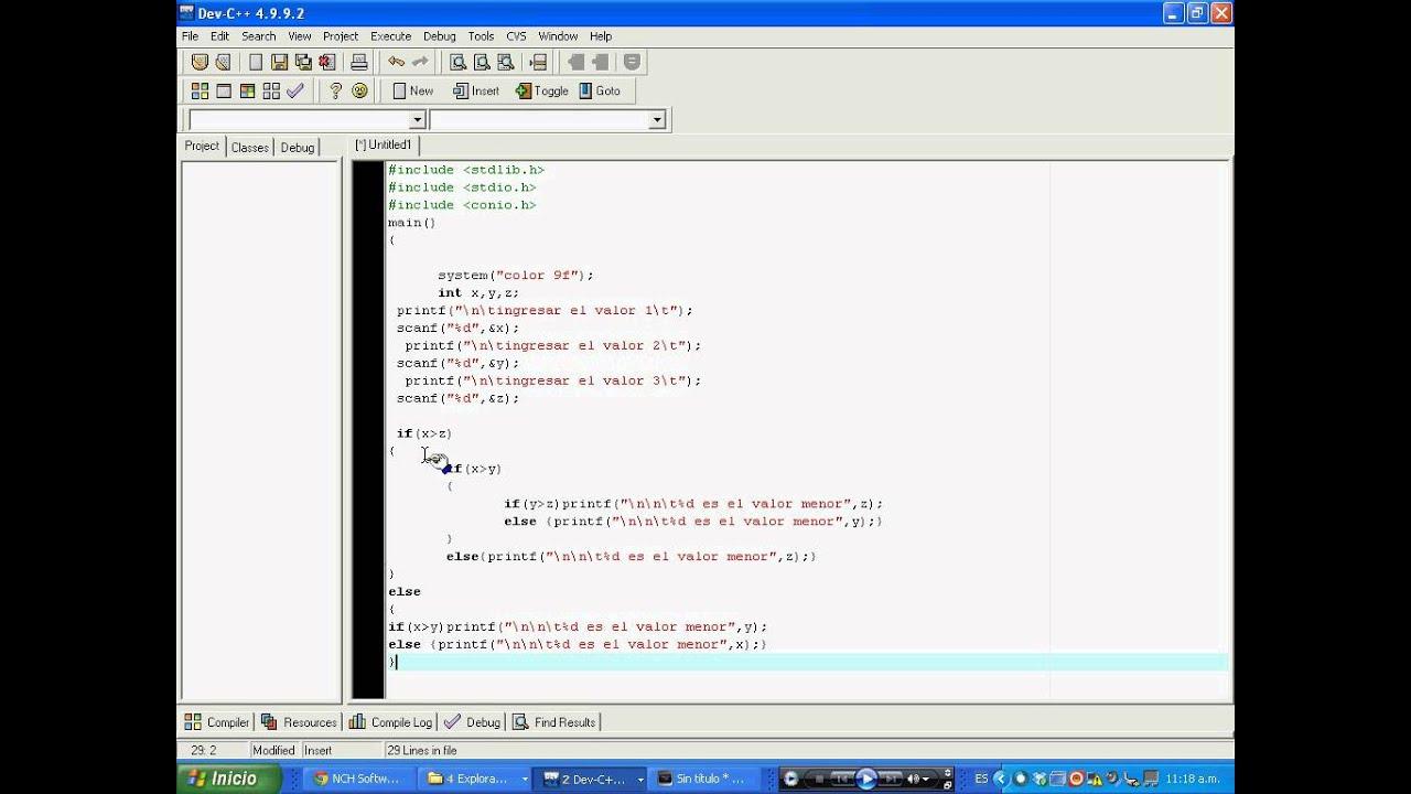 If Else Anidados Programacion En C