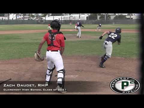 Zach Daudet Prospect Video, RHP, Clairemont High School Class of 2021