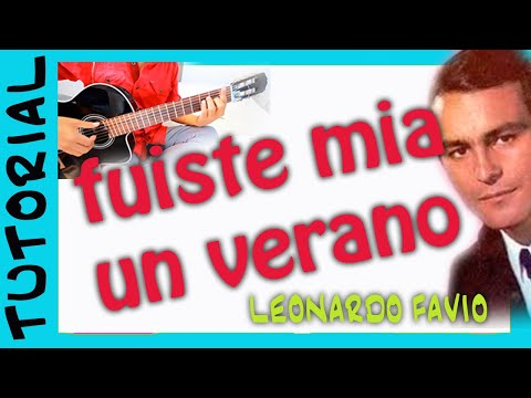 La cancion mas facil para GUITARRA   Leonardo Favio   Fuiste mia un verano