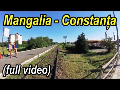 Mangalia-Constanta,Train journey at seaside,Zugfahrt entlang der Schwarzmeerküste