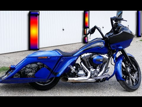 harley davidson road glide peinture moto a rographe lyon youtube. Black Bedroom Furniture Sets. Home Design Ideas