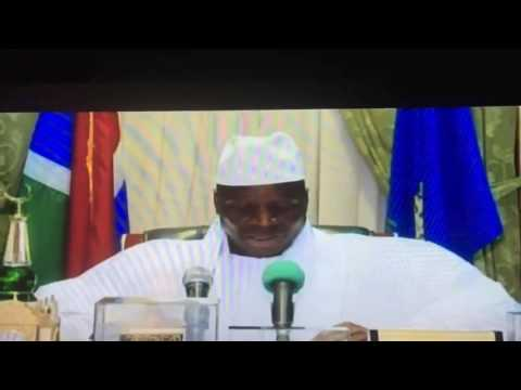 Yahya Jammeh refusing the election results