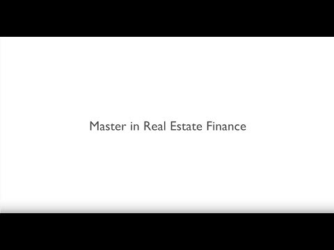 Master in Corporate Finance & Banking - Major in Real Estate Finance