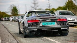 2017 Audi R8 V10 Spyder - Launch Controls & Drag Races !