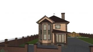 Типовой проект двухэтажного жилого дома «Надёжный»   C-220-ТП