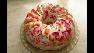 як зробити желейний торт бите скло
