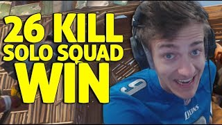 26 Kill Solo Squad Win!! - Fortnite Battle Royale Gameplay - Ninja