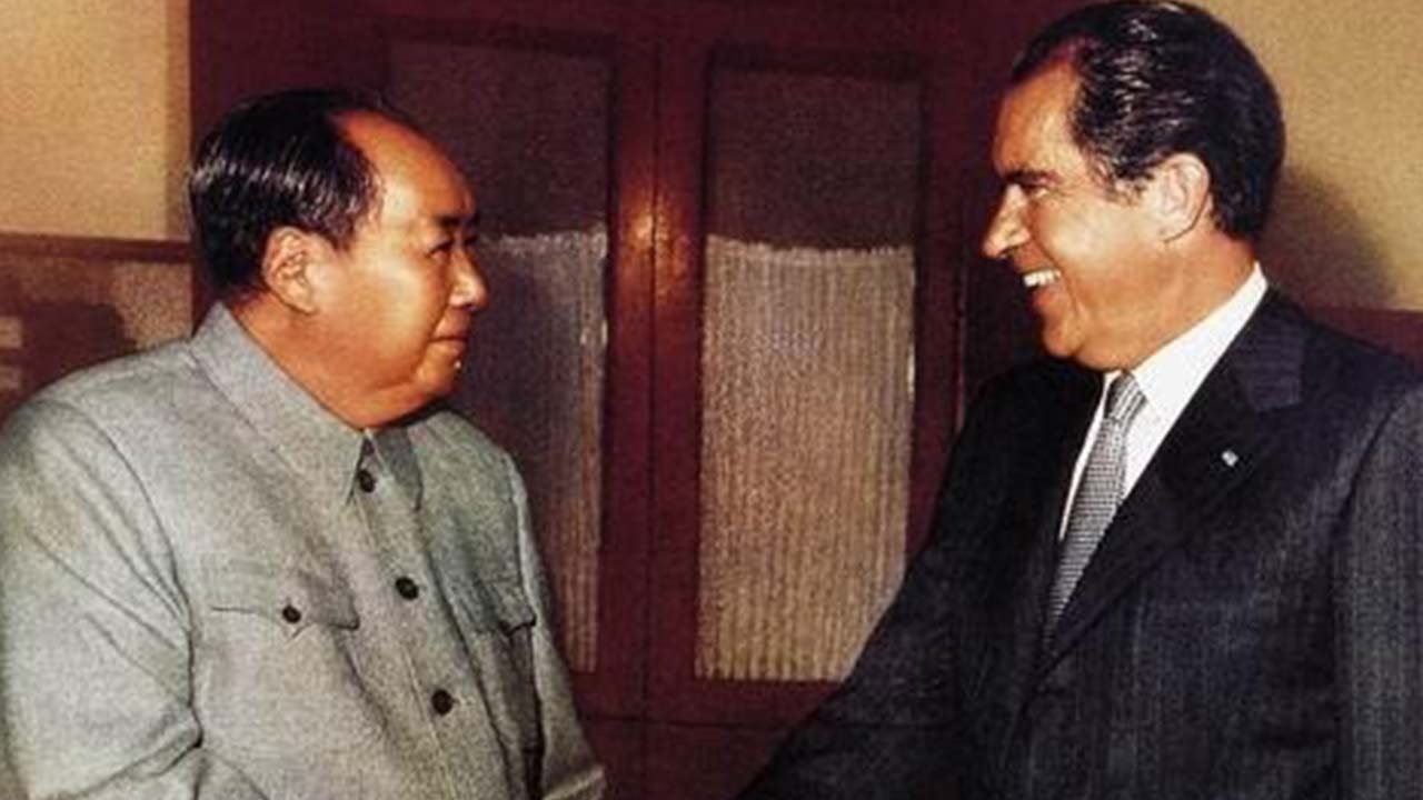 Image result for richard nixon and mao zedong
