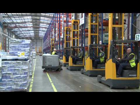 Christmas Time-lapse: Tesco Daventry Grocery Distribution Centre