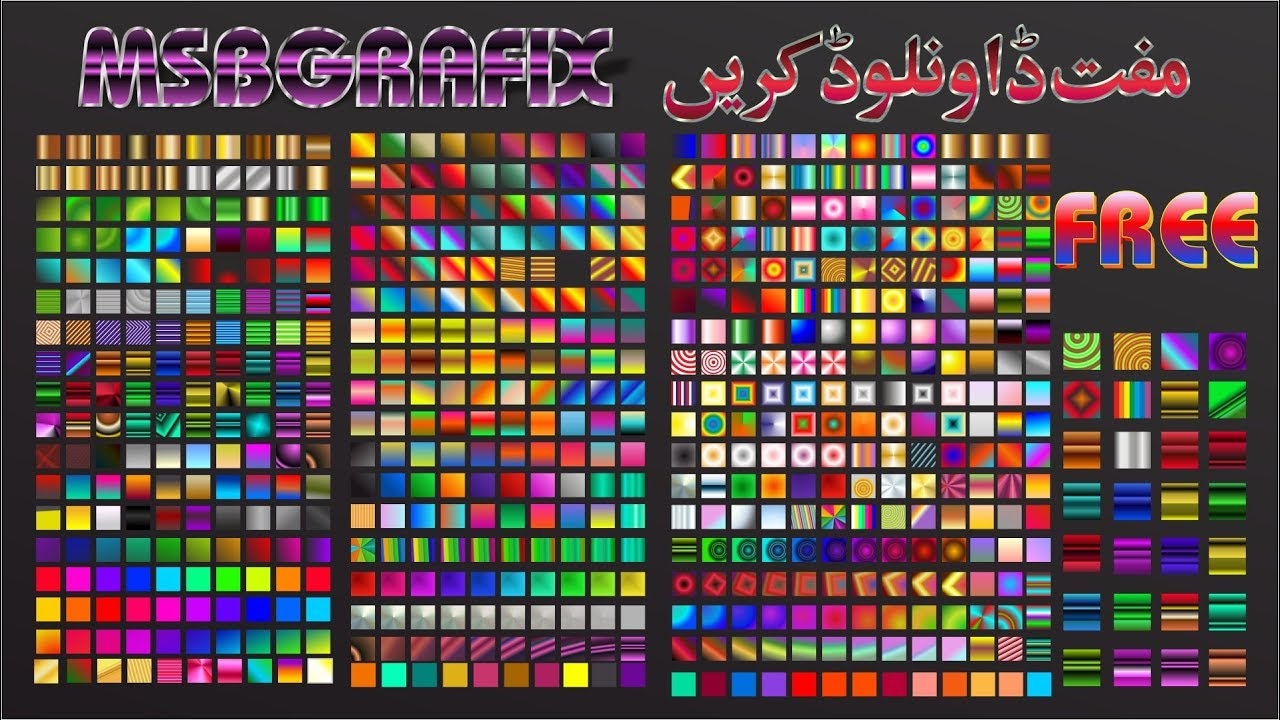 Download Free coreldraw Gradient pack Download by #msbgrafix - YouTube