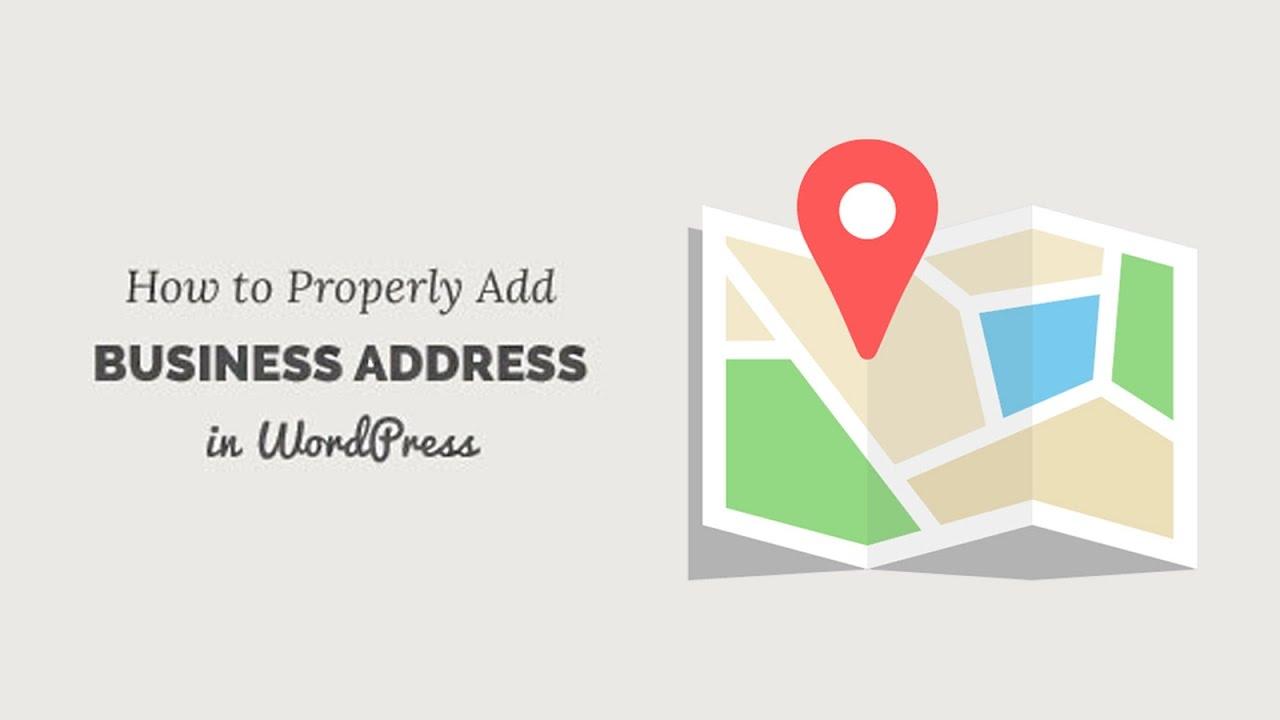 Properly Add Your Business Address in WordPress - YouTube