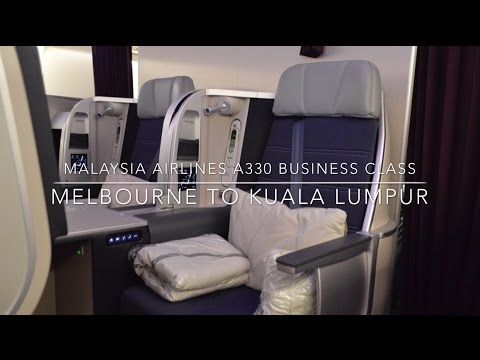 Malaysia Airlines A330 Business Class Melbourne to Kuala Lumpur