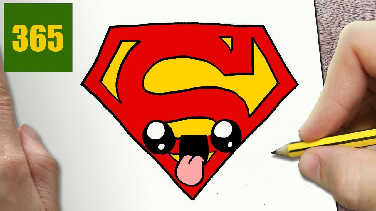 Come disegnare superman logo kawaii passo dopo passo for Disegni kawaii facili