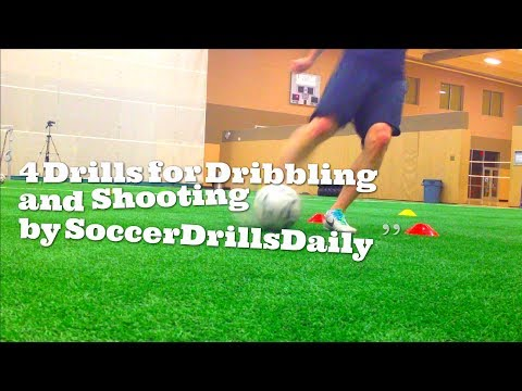 4 Soccer Drills for Dribbling and Shooting – SoccerDrillsDaily