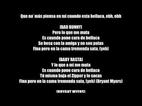 Bad Bunny   Me Mata Letra Lyrics BassNewVersion Ft Arcangel, Noriel, Bryant Myers, Almighty,