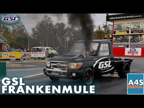 FRANKENMULE 1000HP - GSL 0-200 KPH - 5 Seconds Compound Precision/Borgwarner Setup PWR Dry Ice