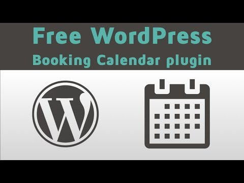 FREE  WordPress Booking Calendar Plugin