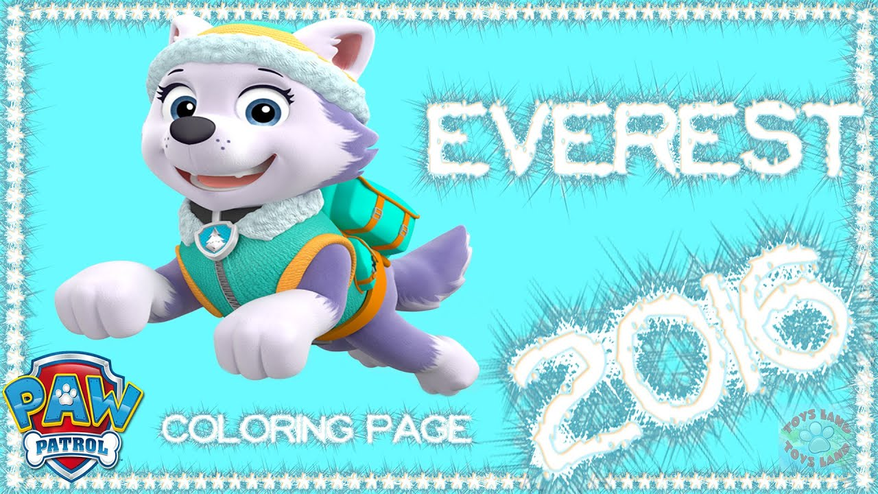 Paw patrol coloring pages robo dog - Paw Patrol Everest 2016 Funny Coloring Page For Kids Hd 2016