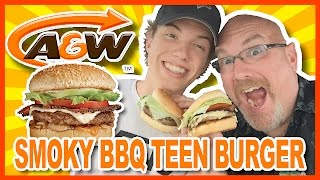 A&W Smoky BBQ Teen Burger Review with Ken & Ben | KBDProductionsTV