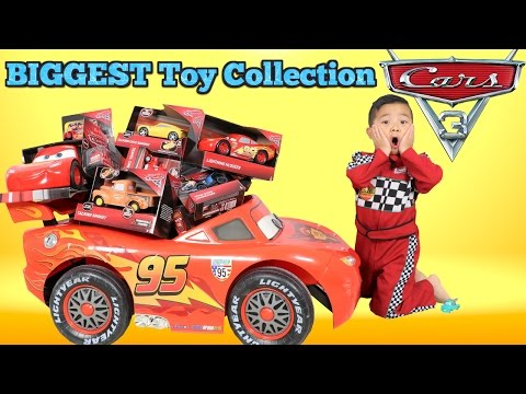 BIGGEST Disney Cars 3 Toy Collection Ever Dered  Lightning McQueen For Ckn Toys
