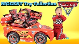 BIGGEST Disney Cars 3 Toy Collection Ever Delivered By Lightning McQueen For Ckn Toys thumbnail