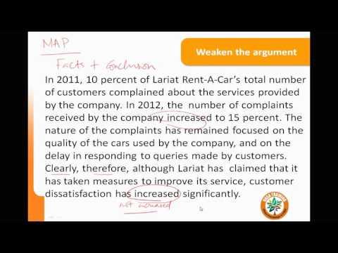 GRE Verbal   Reading Comprehension - critical reasoning  Weaken the Argument - 5
