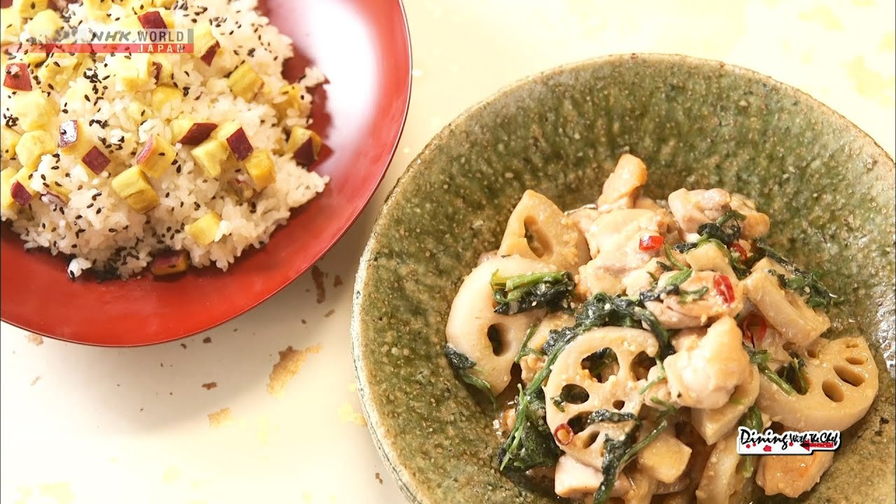Photo of Chef Saito's Miso Stir Fry with Lotus Root and Chicken [Japanese Cooking] – Dining with the Chef – video