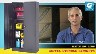 Metal Storage Cabinet With Recessed Handle