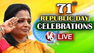 Telangana Governor Tamilisai Flag Hoisting LIVE || 71st Republic Day Celebrations @Nampally |
