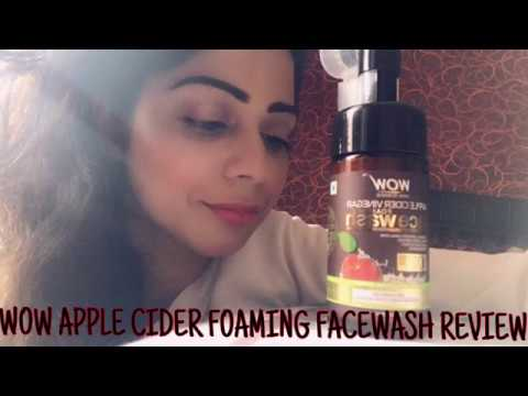 Wow Apple Cider Vinegar Foaming Facewash Review ! Best Faewash ! 100% Natural Facewash !